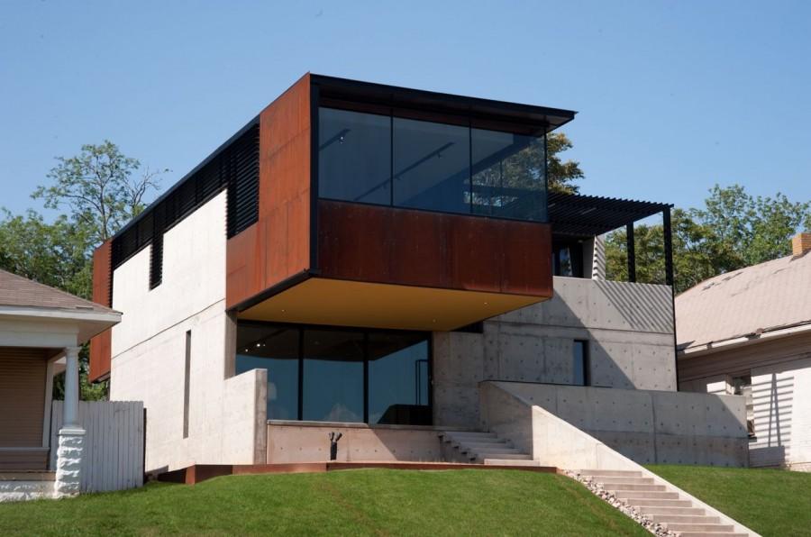 modern house city concrete cool idea (7)