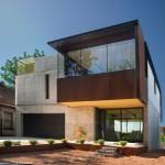 บ้านสองชั้นปูนเปลือยแนวโมเดิร์น ออกแบบตกแต่งทันสมัย ดูมีเอกลักษณ์