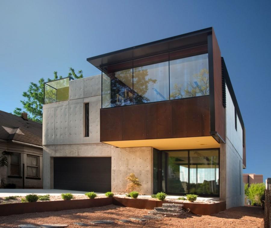 modern house city concrete cool idea (8)