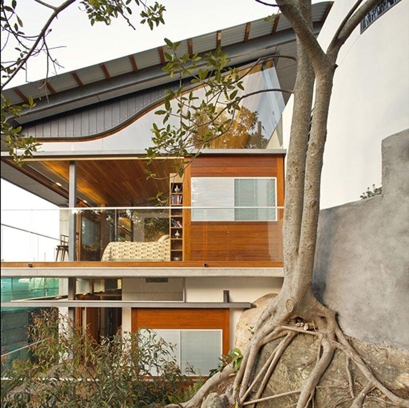 modern house wood concrete glass serene (10)