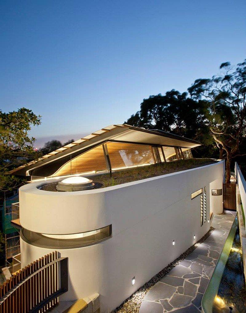 modern house wood concrete glass serene (5)