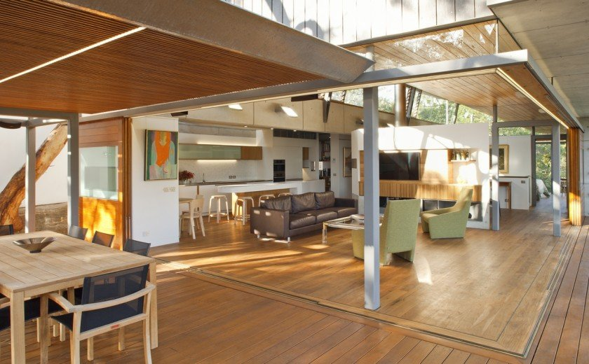 modern house wood concrete glass serene (8)