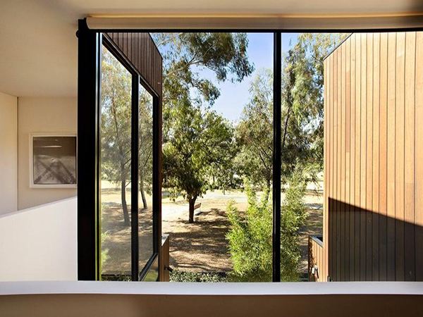 modern house wood glass concrete in garden (10)