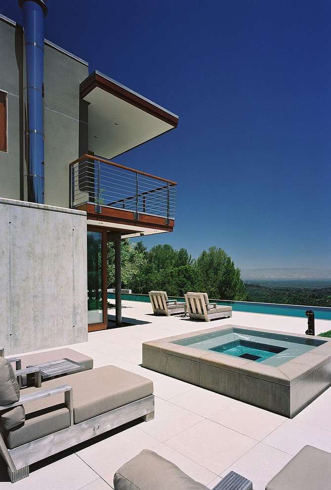 modern large house swimming pool cool idea concrete glass wood (13)