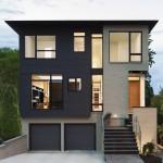 แบบบ้านสองชั้นสไตล์โมเดิร์น สำหรับสร้างเป็นบ้านเดี่ยวหรือทาวน์เฮาส์
