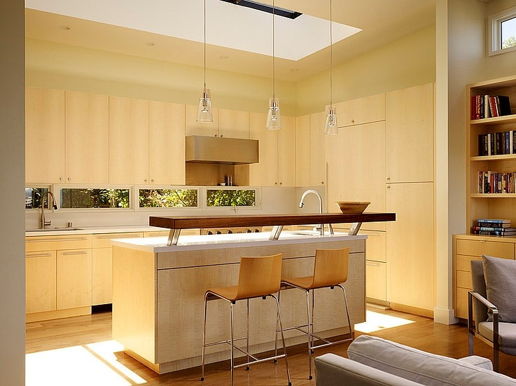modern town house wood glass contemporary loft (1)