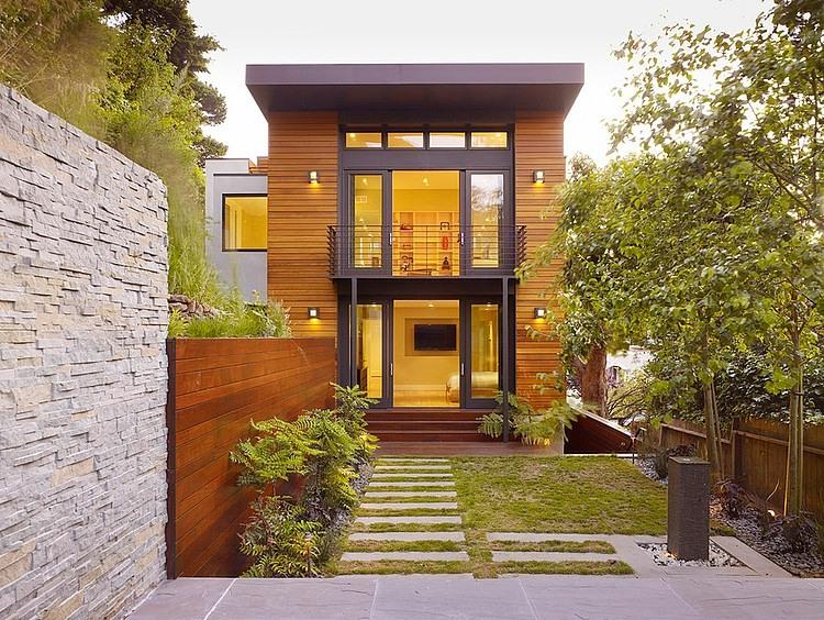 modern town house wood glass contemporary loft (12)