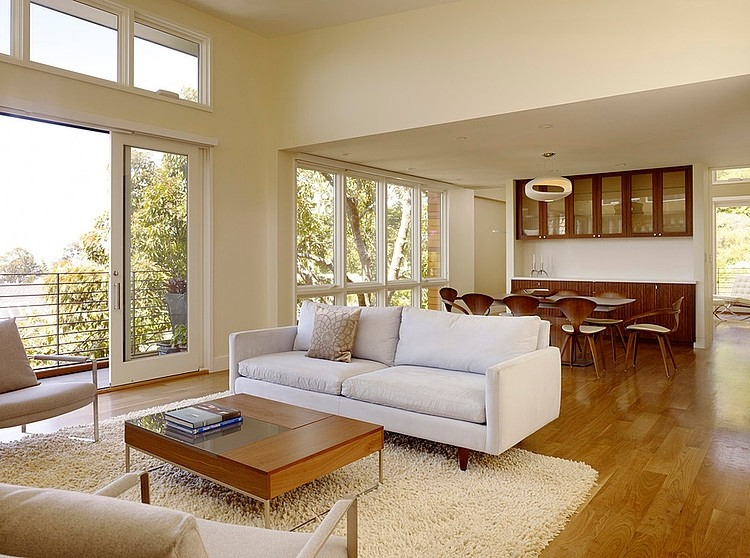 modern town house wood glass contemporary loft (14)