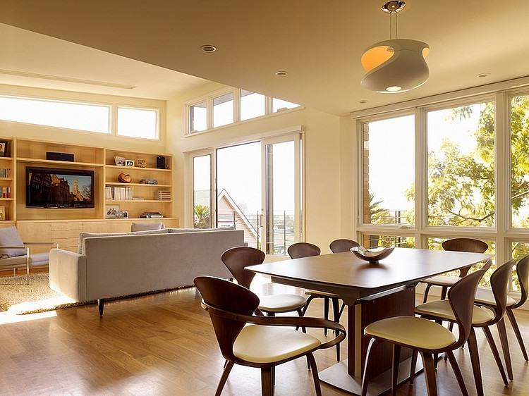 modern town house wood glass contemporary loft (15)