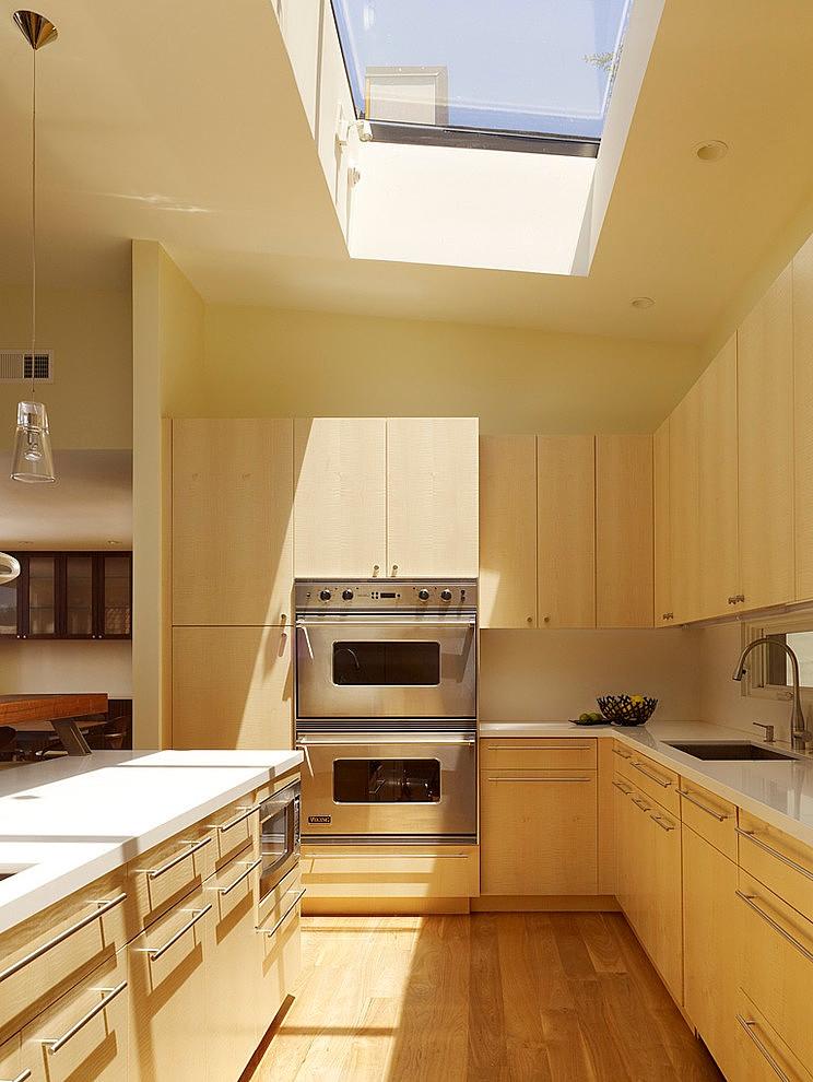 modern town house wood glass contemporary loft (3)