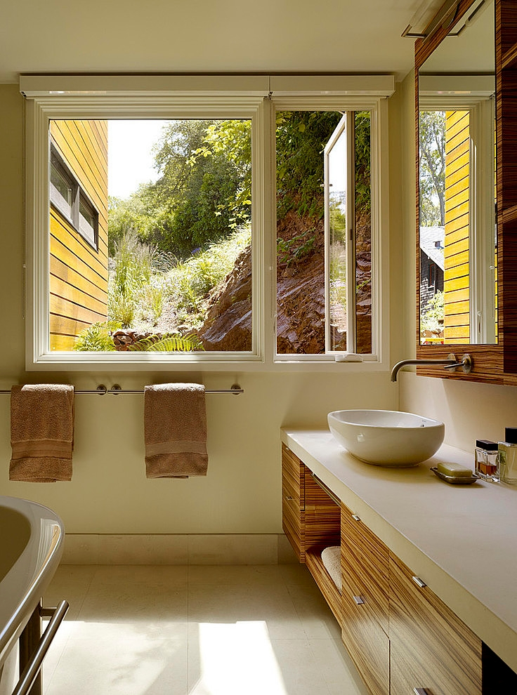 modern town house wood glass contemporary loft (8)