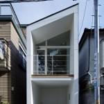 แบบบ้านทาวน์เฮาส์โมเดิร์น ออกแบบได้อย่างมีเอกลักษณ์ ใจกลางเมืองญี่ปุ่น