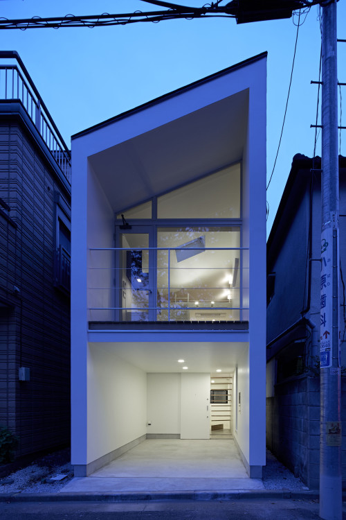 modern townhouse in city japan minimal (12)