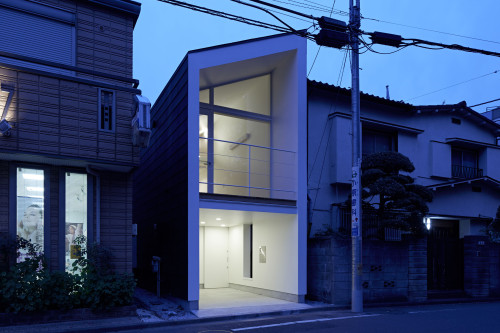 modern townhouse in city japan minimal (2)