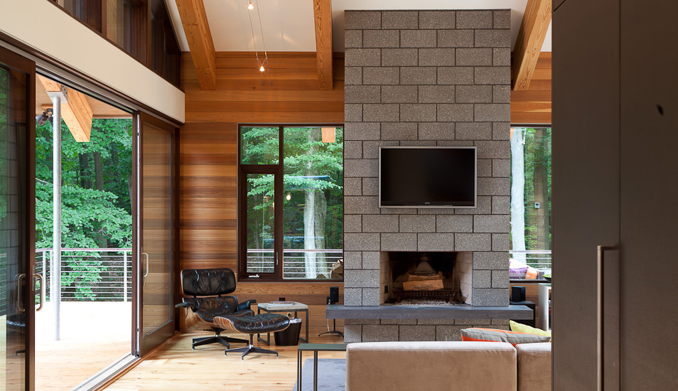modern wooden glass house architecture (1)