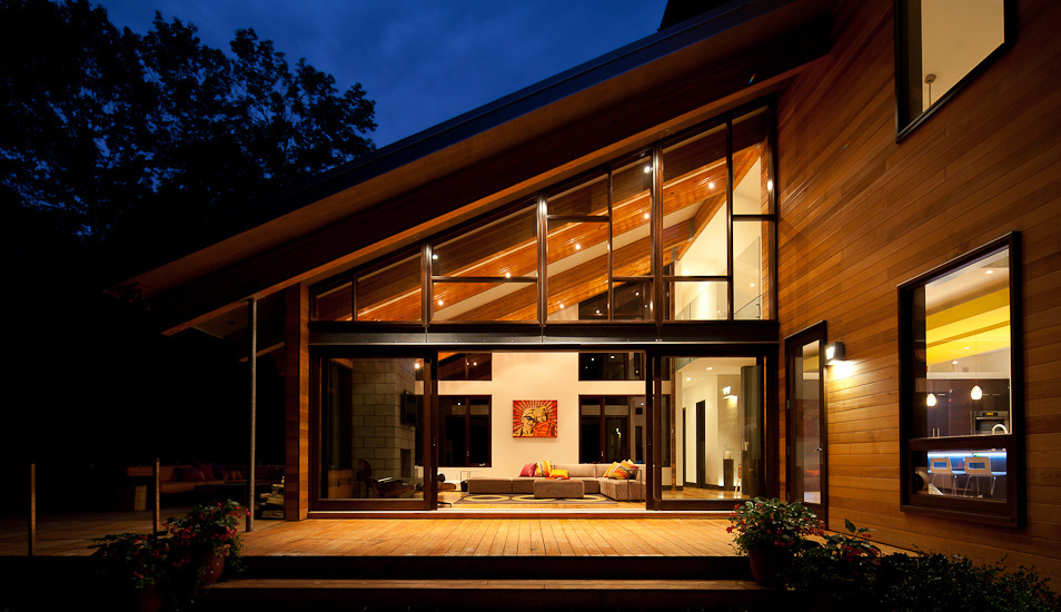 modern wooden glass house architecture (6)