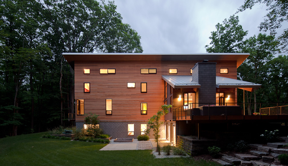 modern wooden glass house architecture (7)