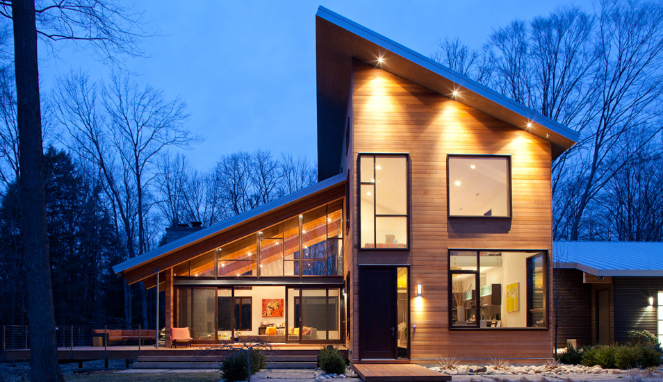 modern wooden glass house architecture (8)
