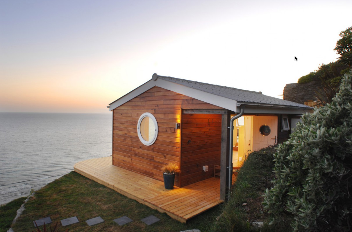 small cottage sea view wood cute (3)