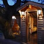 แบบบ้านไม้หลังเล็ก สร้างเป็นทรงกระท่อมดูน่ารัก บรรยากาศดีมากๆ