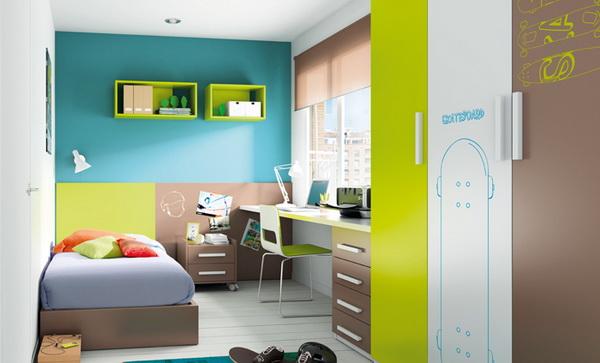 vivid color bedroom idea decoration (1)