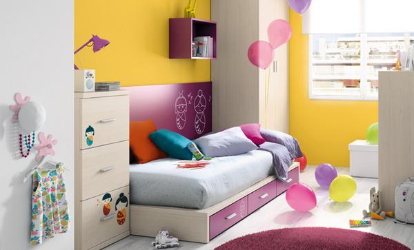 vivid color bedroom idea decoration (12)
