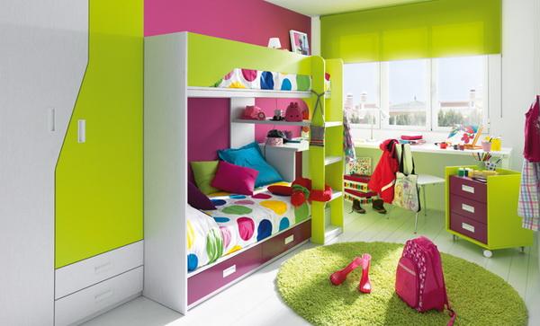 vivid color bedroom idea decoration (18)