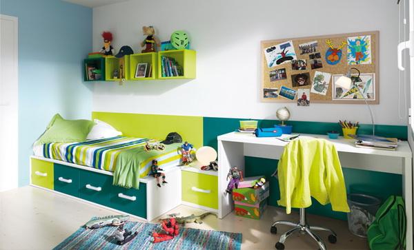 vivid color bedroom idea decoration (3)