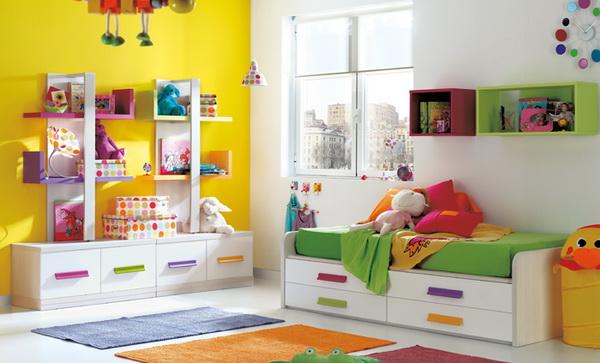 vivid color bedroom idea decoration (5)