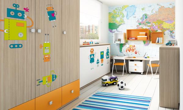 vivid color bedroom idea decoration (7)