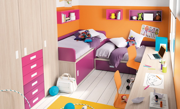 vivid color bedroom idea decoration (9)