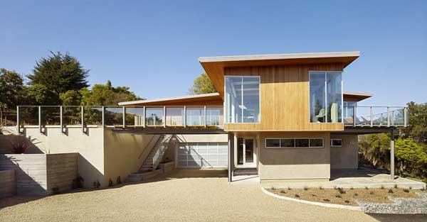 wood concrete glass contemporary house (11)