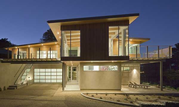 wood concrete glass contemporary house (16)