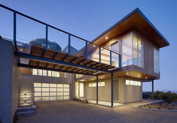 wood concrete glass contemporary house (18)