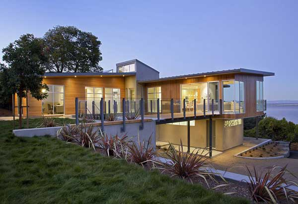 wood concrete glass contemporary house (3)