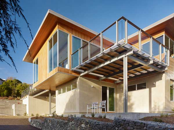 wood concrete glass contemporary house (7)