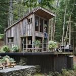 แบบบ้านไม้เพิงหมาแหงน ออกแบบหลังเล็กกะทัดรัด บรรยากาศธรรมชาติ