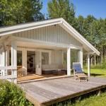 บ้านไม้สีขาวแนววินเทจ ออกแบบได้สบายๆน่าอยู่ บรรยากาศเป็นธรรมชาติ
