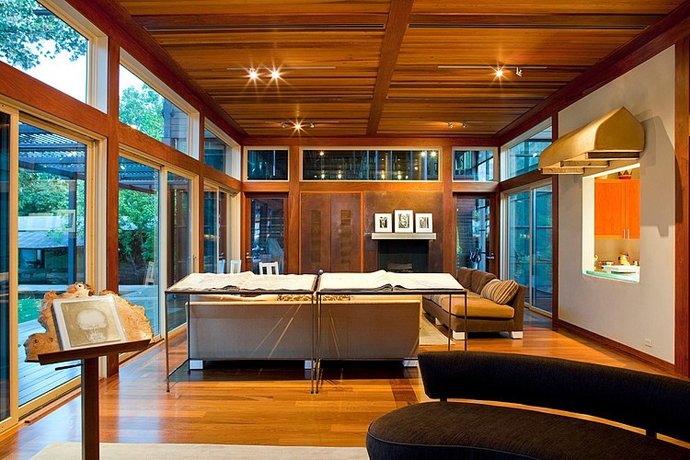 garden house tree modern glass wood (1)