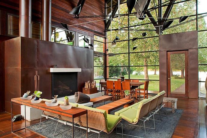 garden house tree modern glass wood (6)