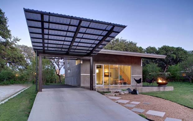 house concrete glass lawn (7)
