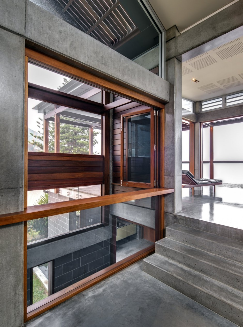 modern concrete wooden glass house vacation (14)
