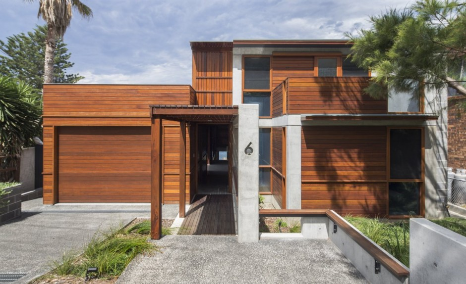 modern concrete wooden glass house vacation (16)