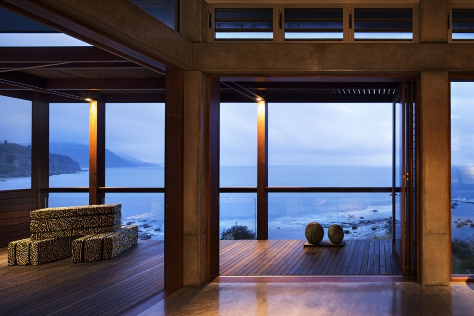 modern concrete wooden glass house vacation (19)