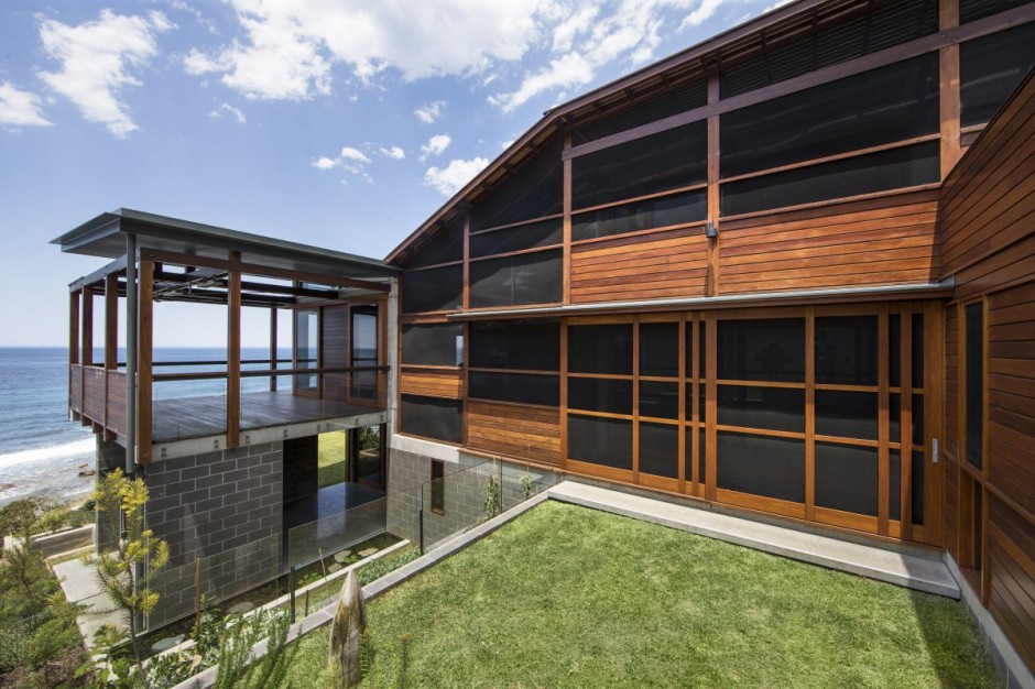 modern concrete wooden glass house vacation (2)