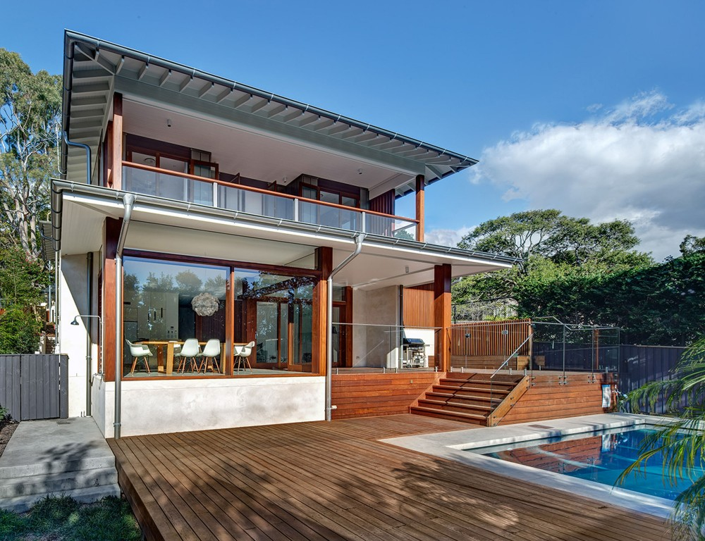 modern contemporary house glass with swimming pool (1)