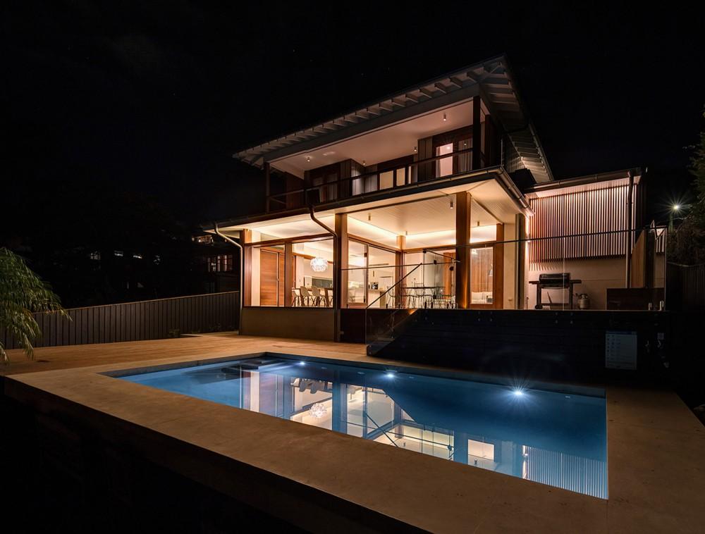 modern contemporary house glass with swimming pool (2)