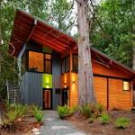 แบบบ้านไม้แนวโมเดิร์นทรงเพิงหมาแหงน ออกแบบมาเพื่อการใช้ชีวิตกับธรรมชาติ