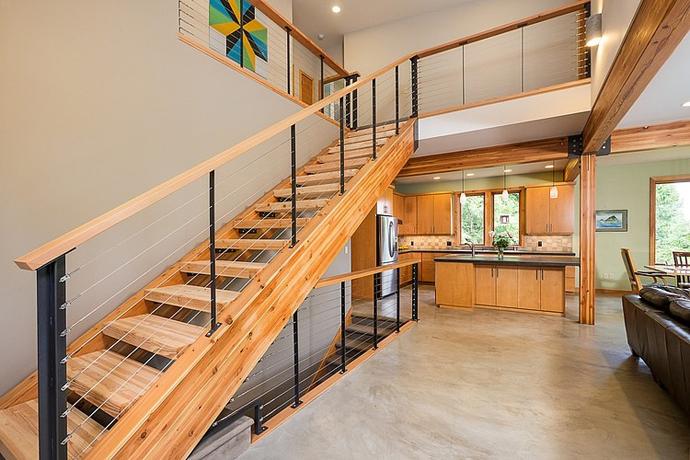 modern wooden house architecture concrete (2)