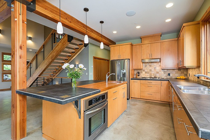 modern wooden house architecture concrete (5)